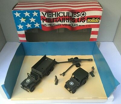 Coffret Véhicules Militaires US : Jeep Willys, GMC, Canon - Solido 7025 - Neuf