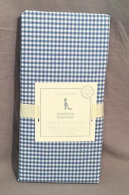 Pottery Barn Kids Blue Gingham Toddler Duvet Cover
