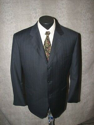 $1399 Canali Proposta  Super 120's Men Black Wool 3 Butt S/B Suit  42 R Italy 2
