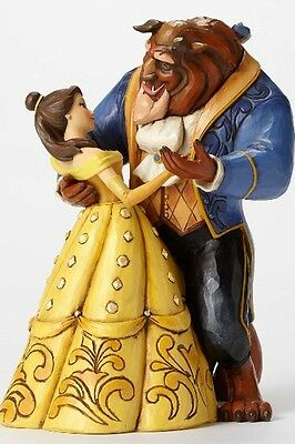 Disney Traditions Beauty and the Beast, Belle & Beast Moonlight Waltz Statue New