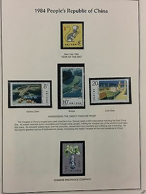 {BJ Stamps} China - People's Republic 1984-1990 MNH collection. 2017 cat. $457.