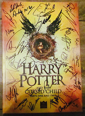 Harry Potter And The Cursed Child London Theatre Programme Signed By The Cast