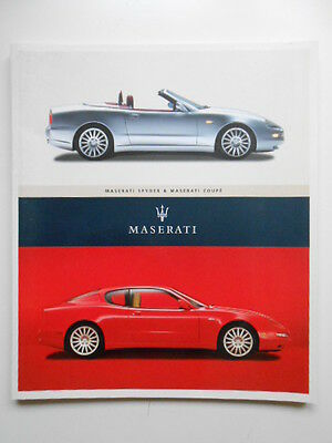 Maserati cars rare vintage limited issued brochure book 2002