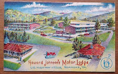 ROANOKE VA ~ HOWARD JOHNSON'S MOTOR LODGE   Crayon Gravure