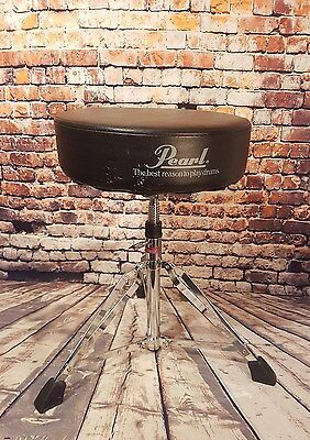 Ludwig/Pearl Drum throne/stool/seat/stall. Heavy duty. Thread adjusted height
