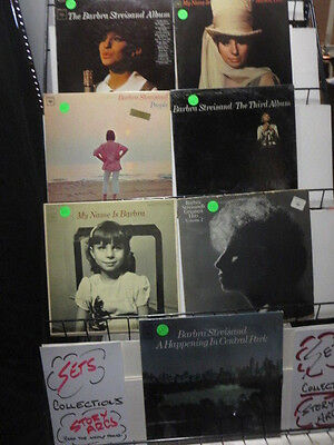 BARBRA STREISAND Lot of 7 LPs Vinyl No Scratches Sleeves are G-VG-VG+