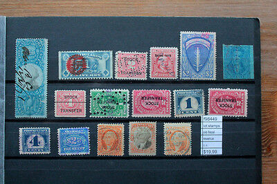 Lot Stamps Old U.s. Fiscal Revenue Used (F98449)