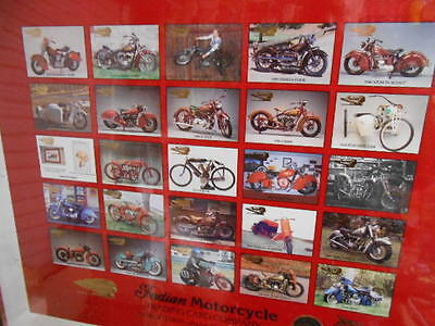 Indian Motorcycle series 2 matted numbered uncut card sheet 1990