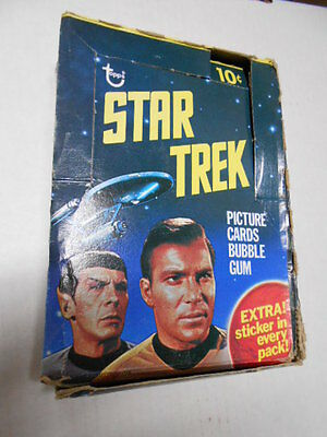 Star Trek original series cards rare empty display box 1976