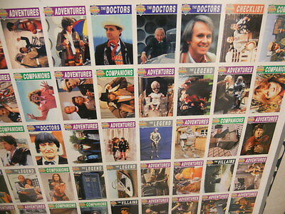 Doctor Who TV show limited issued cards uncut sheet 1990