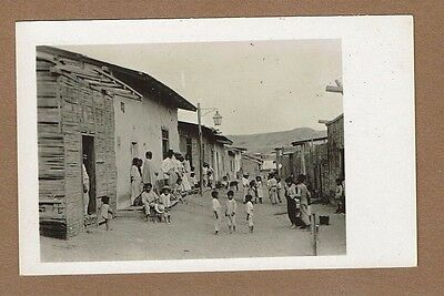 RPPC PERU Payta Street showing homes of the Natives and Street Life