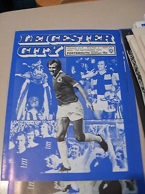 1975-76 Leicester City v Portsmouth League cup 2nd round replay 17.9.1975