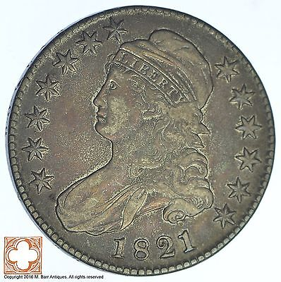 1821 Capped Busted Half Dollar *XB59