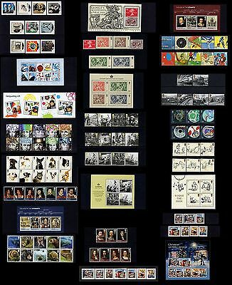 Gb 2010. Complete Year Of 13 Sets Of Commemorative Stamps + 9 Mini Sheets. Mnh
