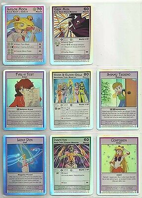 "2000 Sailor Moon Archival HOLOFOIL ""Complete Set"" of 8 CCG Promo Cards (1-8)"