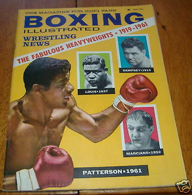 boxing illustrated magizine aug1961  patterson