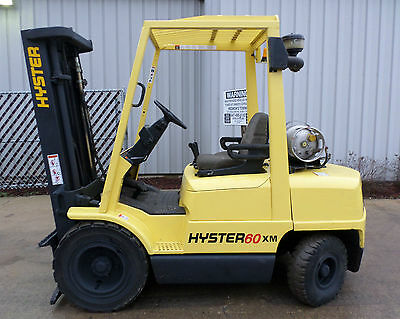 Hyster Model H60XM (2001) 6000lbs Capacity Great LPG Pneumatic Tire Forklift!