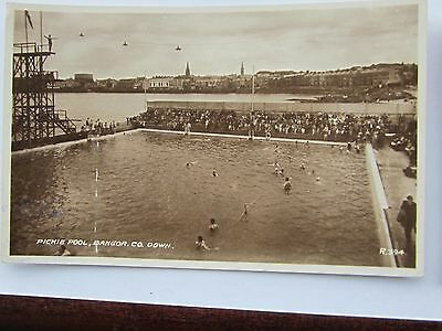Bangor Co Down  Real Photo Diver Top Board Pickie Pool 1933 R.394