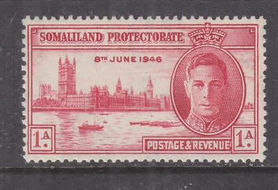 SOMALILAND PROTECTORATE, 1946 Victory, perf. 13 1/2, 1a. Carmine, lhm.