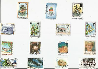 A  Fresh Selection Of 15 Different Good/fine Used Stamps From The Cayman Islands