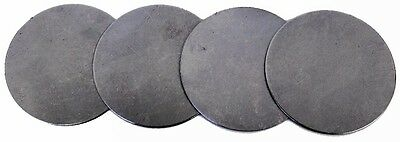 "2 3/4"" Dia Flat Metal Plates Discs Round 1/16"" Thickness STEEL 18 gauge CR Blank"