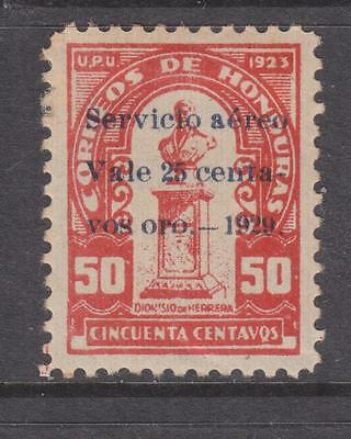 HONDURAS, 1929 Air, 25c. on 50c. Red, lhm., slight faults.