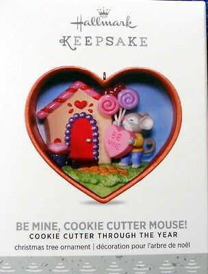 """2017 Hallmark Ornament~ """"be Mine, Cookie Cutter Mouse""""~  #1 In Brand New Series"""