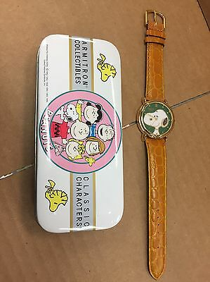 Peanuts Armitron Classic Characters Watch Snoopy Face Charles Schulz M5