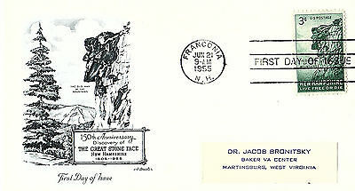 Great Stone Face - 1068 Fdc - Artmaster Cachet -1955 - 2