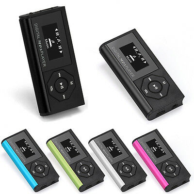 USB MP3 Music Media Player LCD Screen Support 16GB Micro SD TF Card