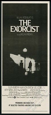 1974 The Exorcist movie advance release classic photo vintage print ad