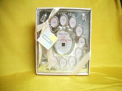 MY FIRST YEAR Baby Girl Photo Silver Picture FRAME 11x9 MIB Granddaughter Gift
