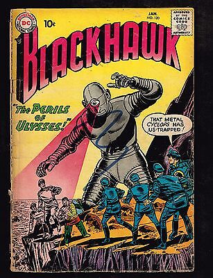 "Blackhawk #120 ~ ""The Challenge of the Wizard"" ~ (2.0) 1958 WH"