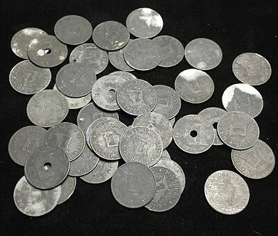 Lot of 45 Mixed Missouri Tax Tokens 1 And 5 Denominations