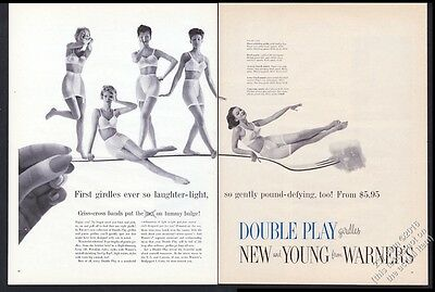 1959 Warner's New and Young lingerie bra panty girdle 5 women photo print ad