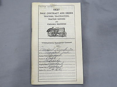 1937 McCormick Deering International Harvester IH Dealer Price Catalog Tractors