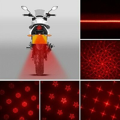 Hot Motorcycle Laser Taillight Safety Rainy Day Driving Warning Light 6 Types