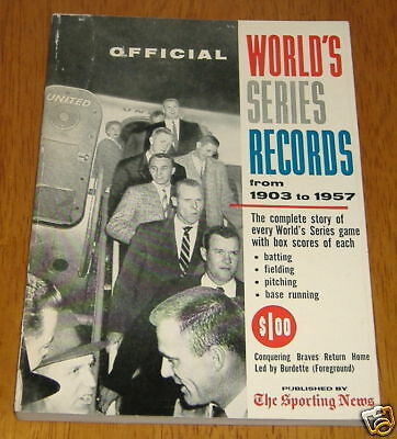 the sporting news  world series records  1958
