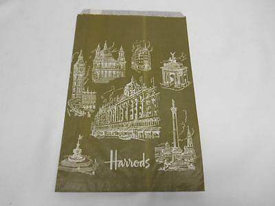 Old Vtg HARRODS London England Store Shopping Bag Advertising