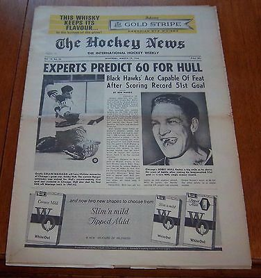 the hockey news  Bobby Hull record breaking 51 goals  March 19 1966 vol 19 no.23