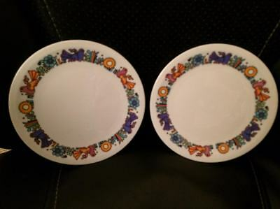 Vintage 60s Villeroy Boch Acapulco Luxembourg Side Plates