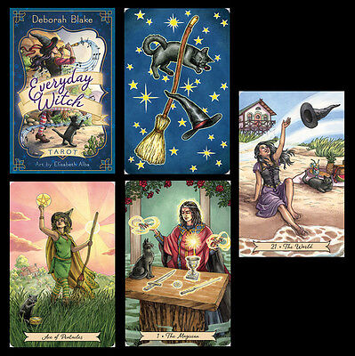Everyday Witch Tarot – Deck and Book Set – Charming, Whimsical Art