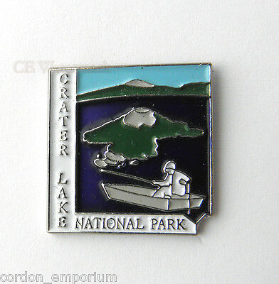 Us Oregon Crater Lake National State Park Lapel Pin Badge 1 Inch