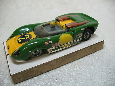 1/24 Scale Vintage Lancer Lola Can-Am Green Scratch-Built Slot Car-Nice!