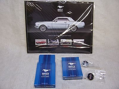 50Th Anniversary Ford Mustang Hero Cards/deck Of Playing Cards/two Lapel Pins