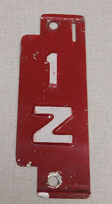 1960 Wisconsin private carrier truck license plate insert tab