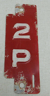 1961 Wisconsin private carrier truck license plate insert tab
