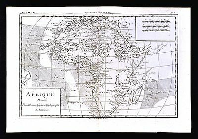 1779 Bonne Map - Africa - Guinea Egypt Nubia Cafrerie South Angola Madagascar