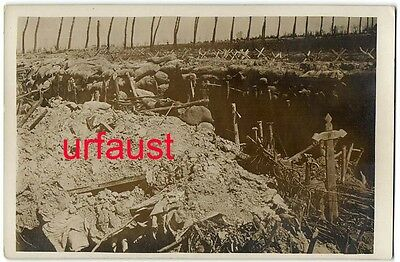 German WWI Photo Left British Trenches
