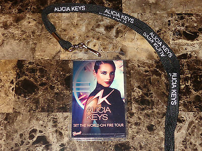 Alicia Keys Official 2012 VIP Laminate Pass Set The World On Fire New York City